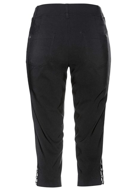 Pantaloni capri con elastico in vita Nero - bpc selection ordina online - bonprix.it cX1bK4K5