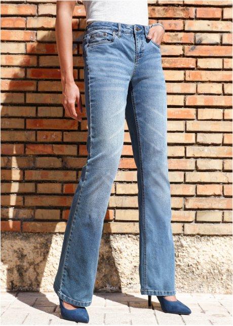 Jeans elasticizzati bootcut stretti sulla coscia - Azzurro T.N. yfxg40SW