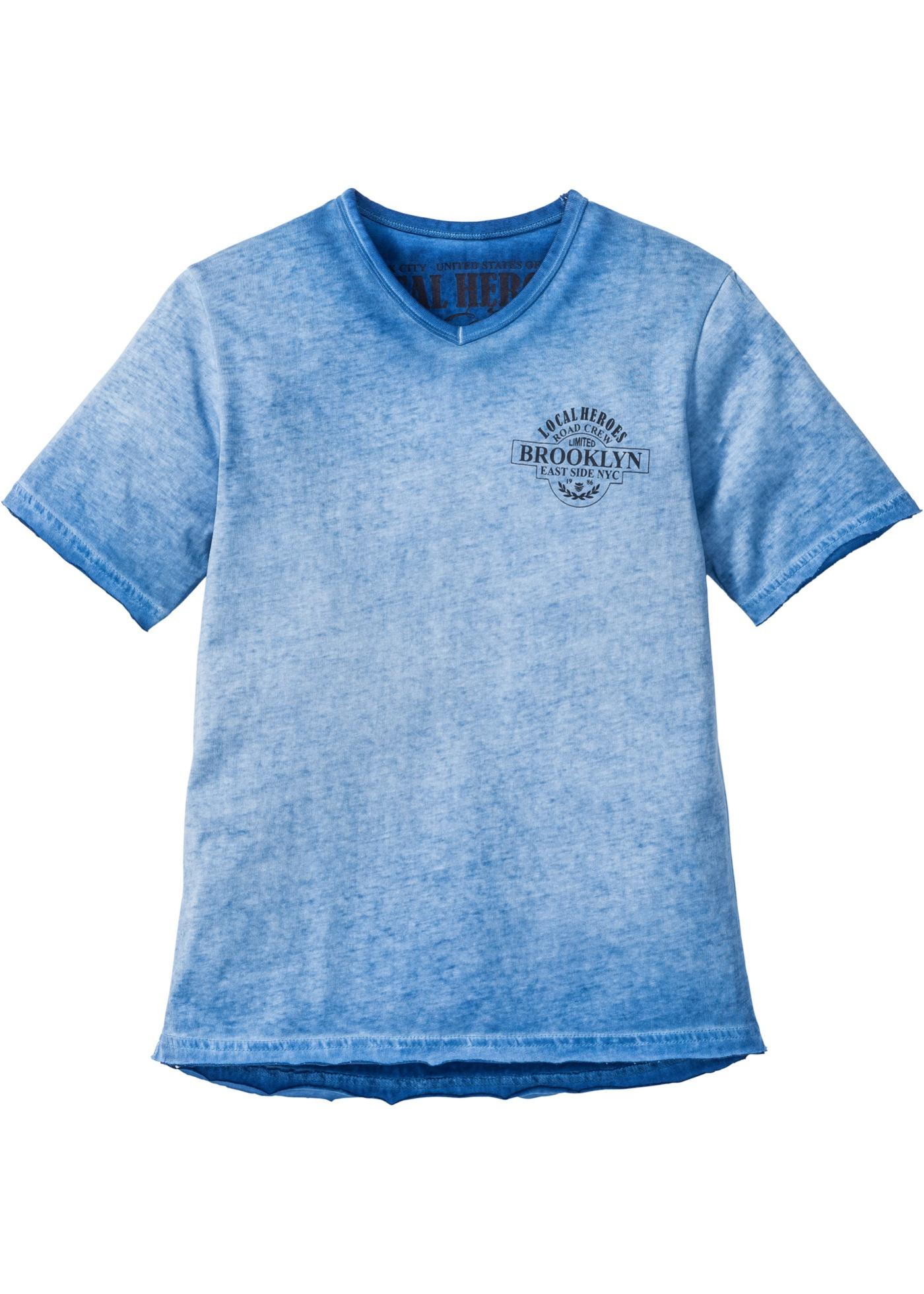 T-shirt sfumata  Blu  - b