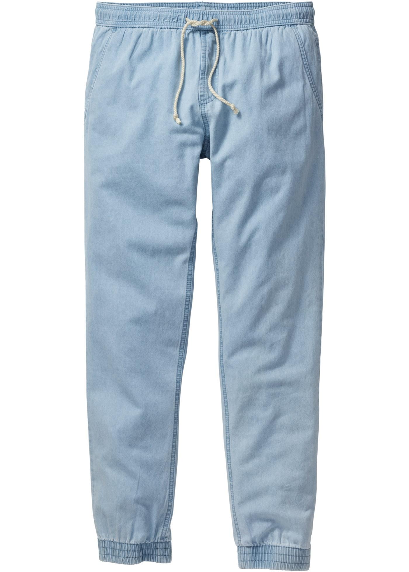 Pantalone jogger in jeans