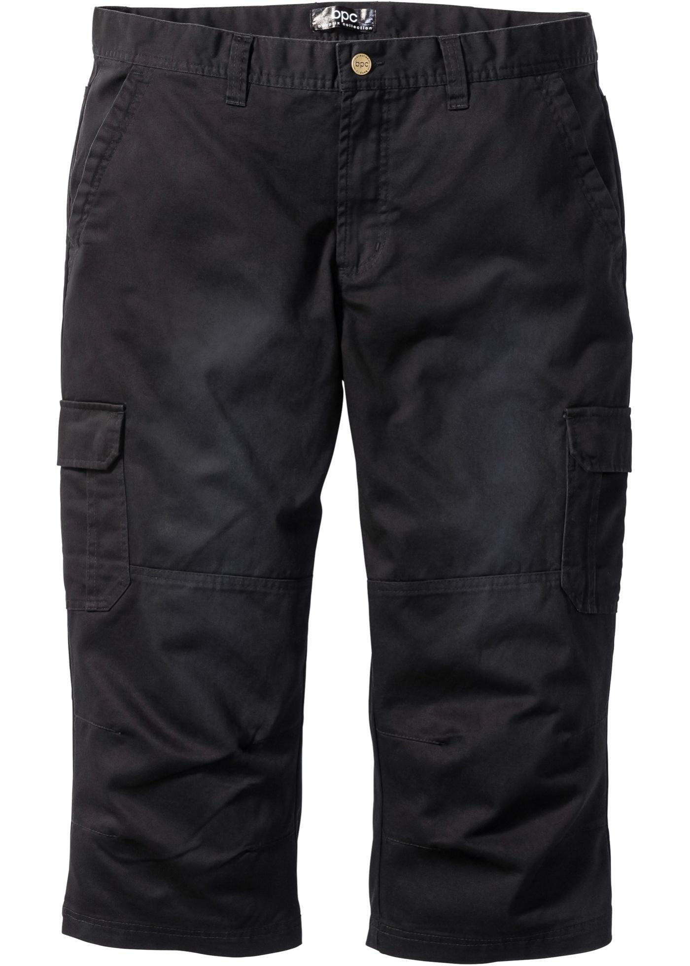 Pantalone cargo 3 4  Nero