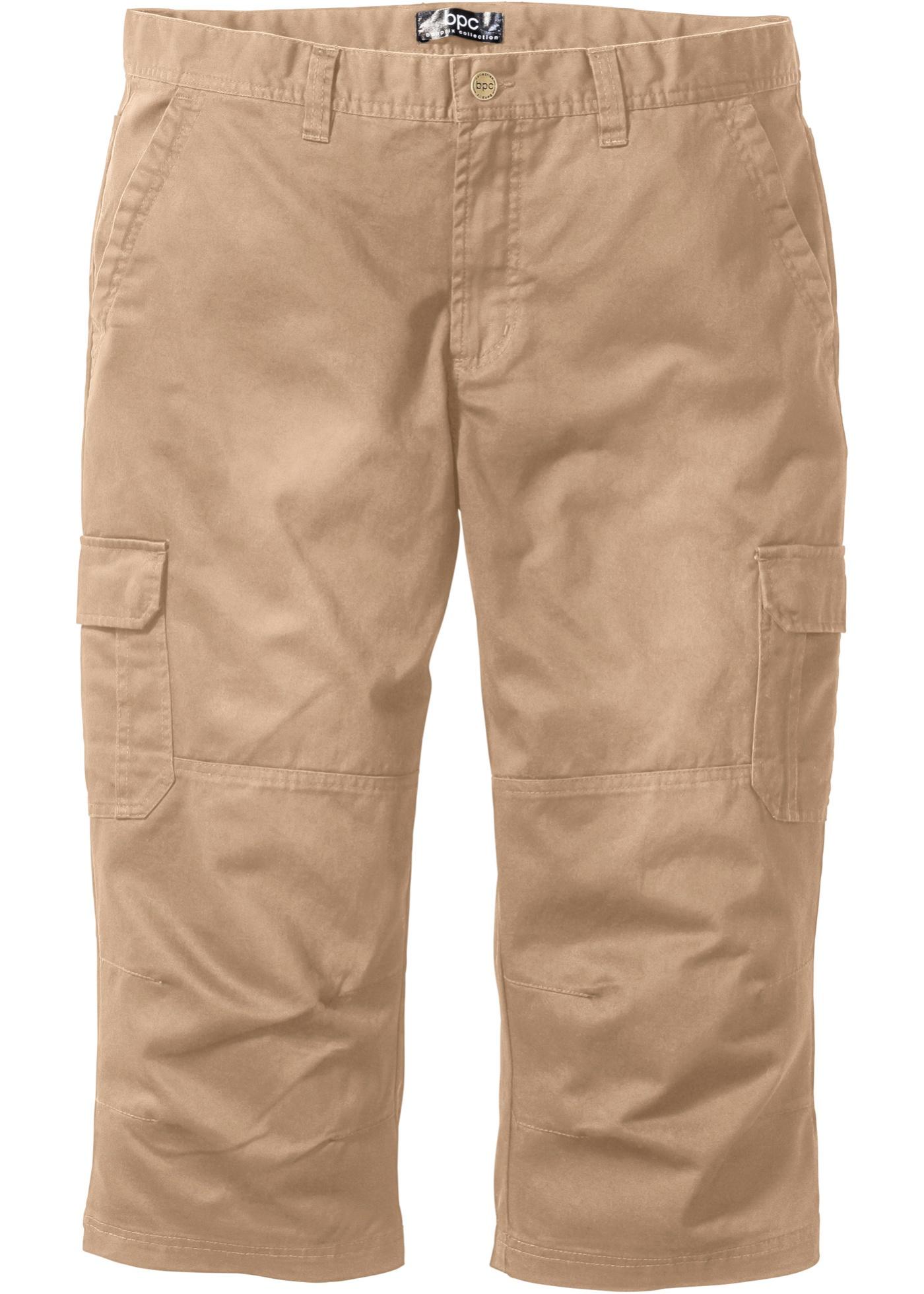Pantalone cargo 3 4  Beig