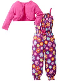 Tuta + bolero (set 2 pezzi), bpc bonprix collection, Peonia fantasia + fucsia