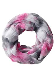 Sciarpina multicolore, bpc bonprix collection, Fucsia / bianco