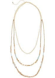 "Collana ""Holiday Feelings"", bpc bonprix collection, Color oro / turchese"