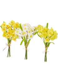 "Bouquet artificiale ""Narcisi"" (set 3 pezzi), bpc living, Giallo / bianco"