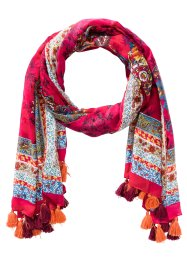 "Sciarpa con nappine ""Paisley"", bpc bonprix collection, Fucsia / arancione"