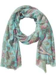 Sciarpina paisley / pastello, bpc bonprix collection, Acqua