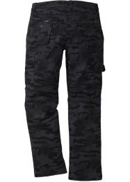 Pantalone cargo baggy fit straight, RAINBOW, Nero fantasia