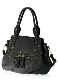 Borsa con cerniera, bpc bonprix collection, Nero