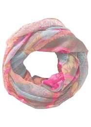"Sciarpina ad anello ""Rose"", bpc bonprix collection, Fucsia / grigio"