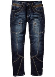 Jeans regular fit straight, RAINBOW, Dark blu stone used