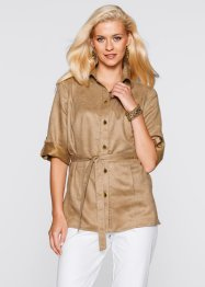 Camicia in similpelle scamosciata, bpc selection