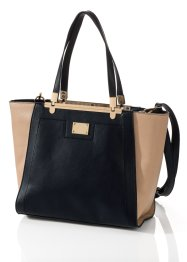 Borsa bicolore, bpc bonprix collection, Nero / color nudo
