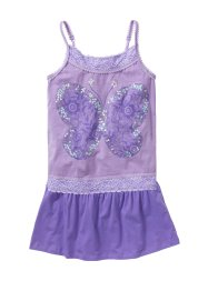 Top con paillettes + gonna (set 2 pezzi), bpc bonprix collection, Lilla / violetto
