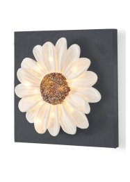 "Quadro con LED ""Flower"", bpc living, Marroncino"