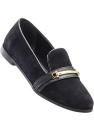 Mocassino in pelle, bpc selection, Nero