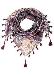 "Sciarpina ""Paisley"", bpc bonprix collection, Grigio / fucsia fantasia"
