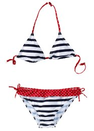 Bikini, bpc bonprix collection, Blu scuro / bianco a righe