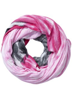 Sciarpa ad anello sfumata, bpc bonprix collection, Antracite / fucsia scuro
