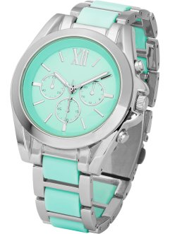 Orologio in metallo, bpc bonprix collection, Menta / color argento