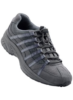Scarpa da trekking in pelle, bpc bonprix collection, Grigio