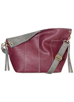 Borsa reversibile, bpc bonprix collection, Bordeaux / grigio