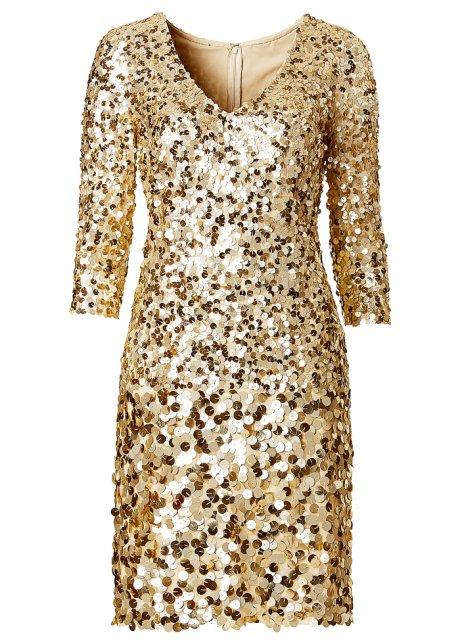 Vestito paillettes oro