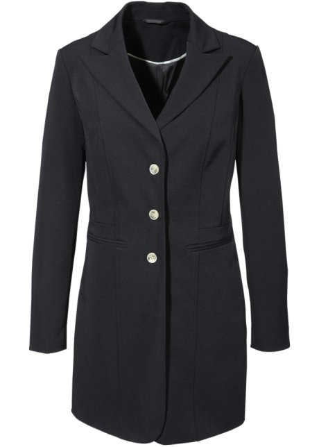 blazer nero lungo