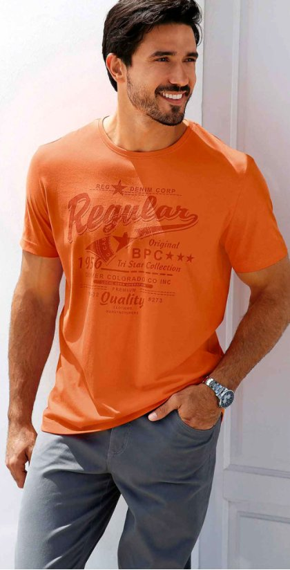 Uomo - T-shirt regular fit - Arancione