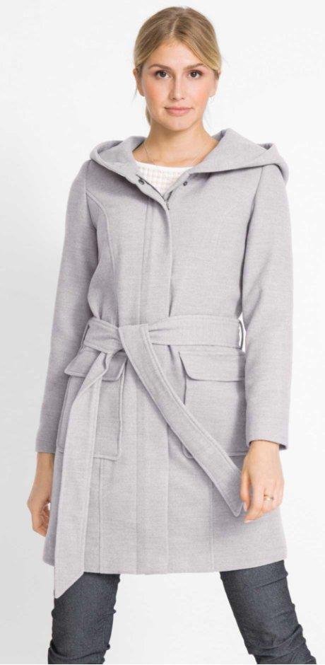 Donna - Cappotto in simil lana - Grigio chiaro melange 09f77d3ceff