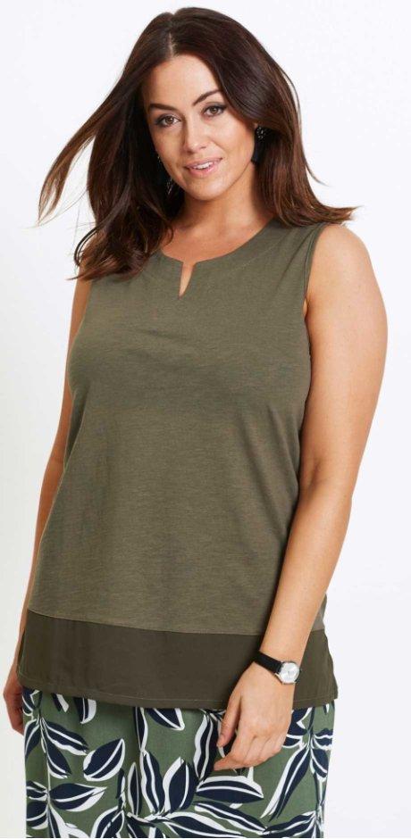 Donna - Top - Verde oliva scuro. Top bpc selection af09142cb14