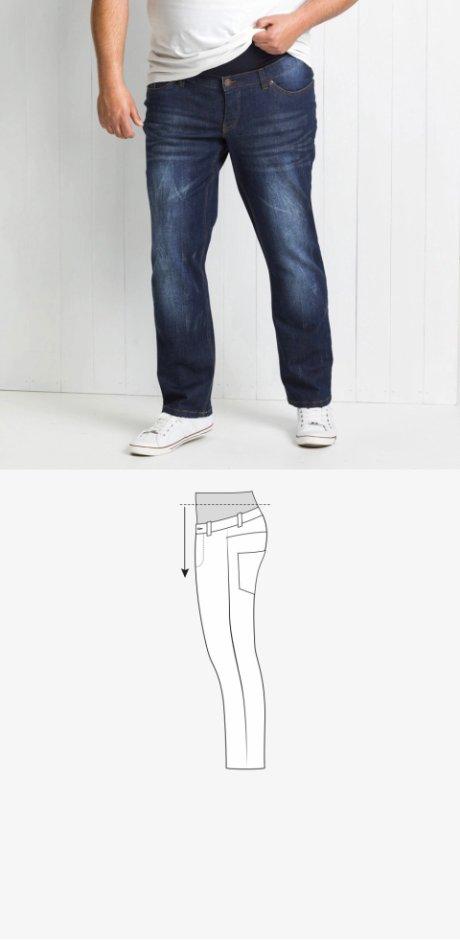 d76bcd2dcba5 Uomo - Jeans elasticizzato senza chiusura con fascia in jersey - Blu scuro  used