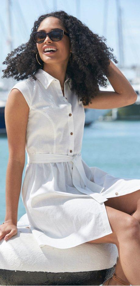 0818458c2728 SEO-Landingpages - Abito in misto lino con bottoni - Bianco panna