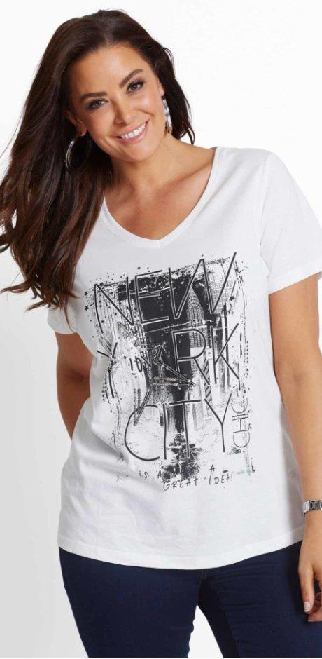 7c5b77ecd164 Donna - T-shirt - Bianco   nero