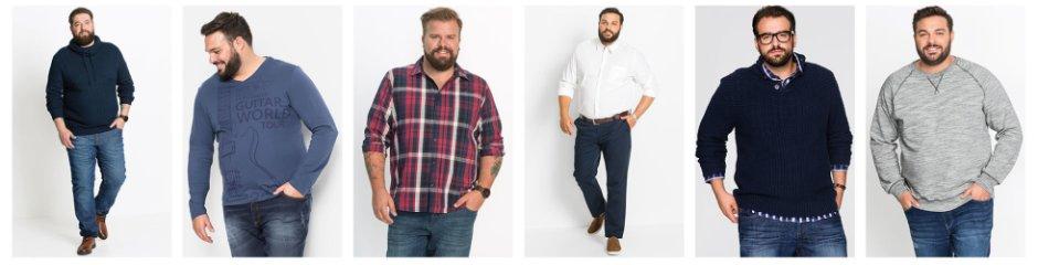 online store ba875 70dff Abbigliamento da uomo taglie forti: la moda XXL bonprix