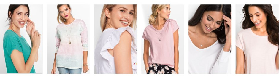 cc528335eb88 Donna - Abbigliamento - Maglie & t-shirt - T-shirt scollo rotondo. Maglia  boxy a manica ...
