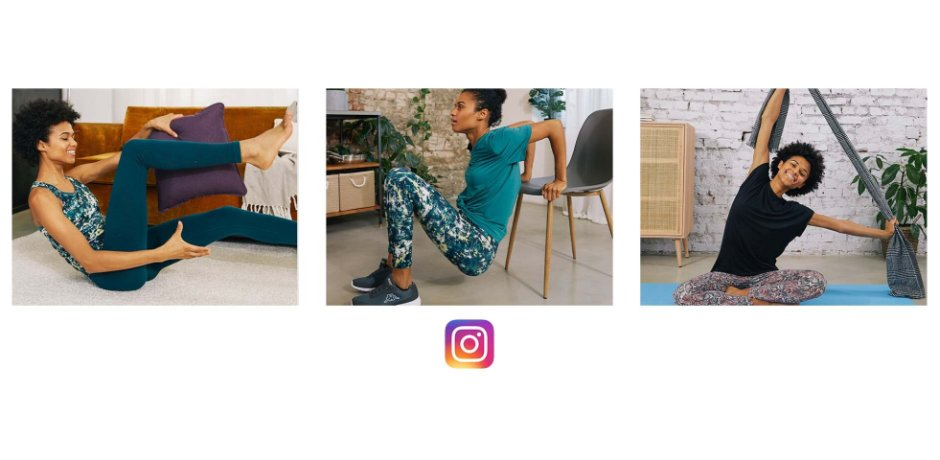 Su Instagram trovi i nostri workout da fare in casa: