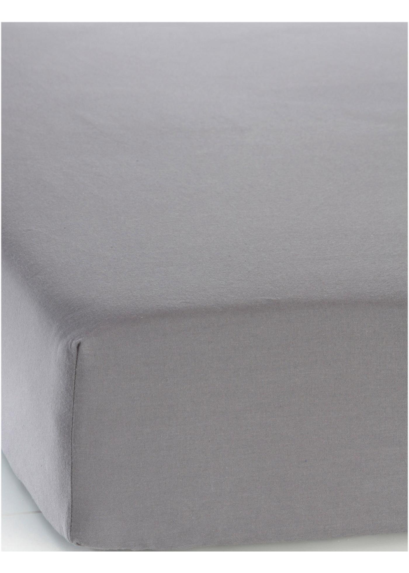 Lenzuolo da sotto in linone (Grigio) - bpc living bonprix collection