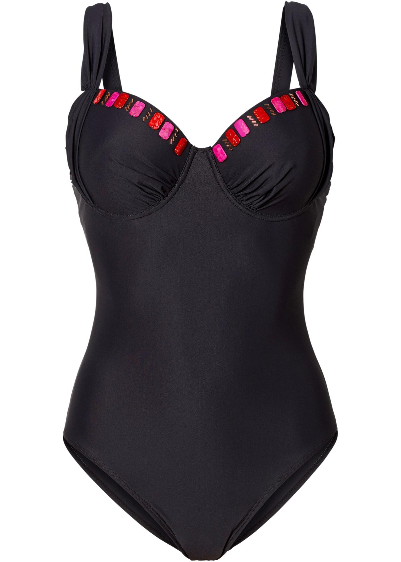 5802ccfce2c365 Costumi da donna Costume intero modellante (Nero) - bpc selection
