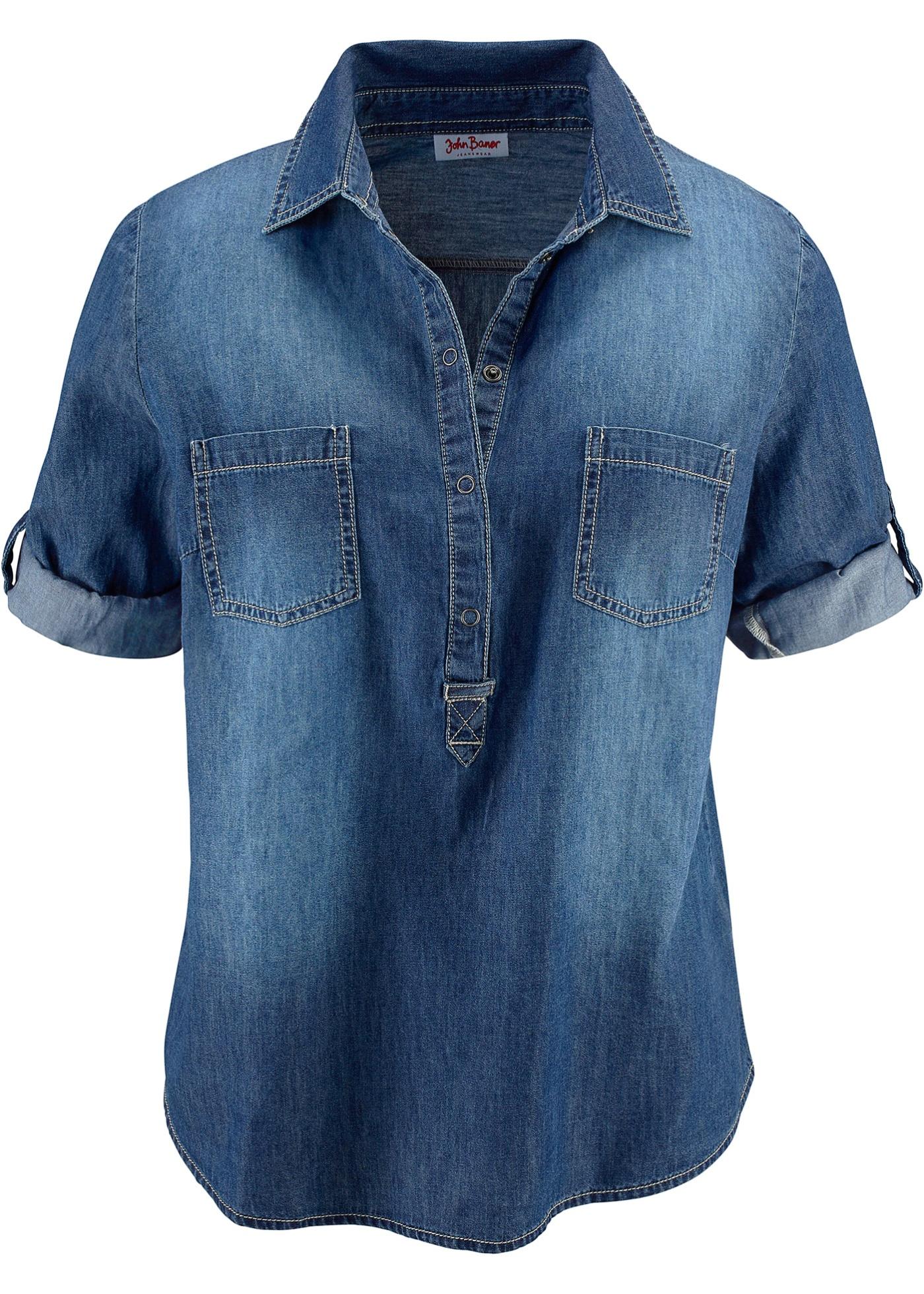 Blusa in jeans (Blu) - John Baner JEANSWEAR