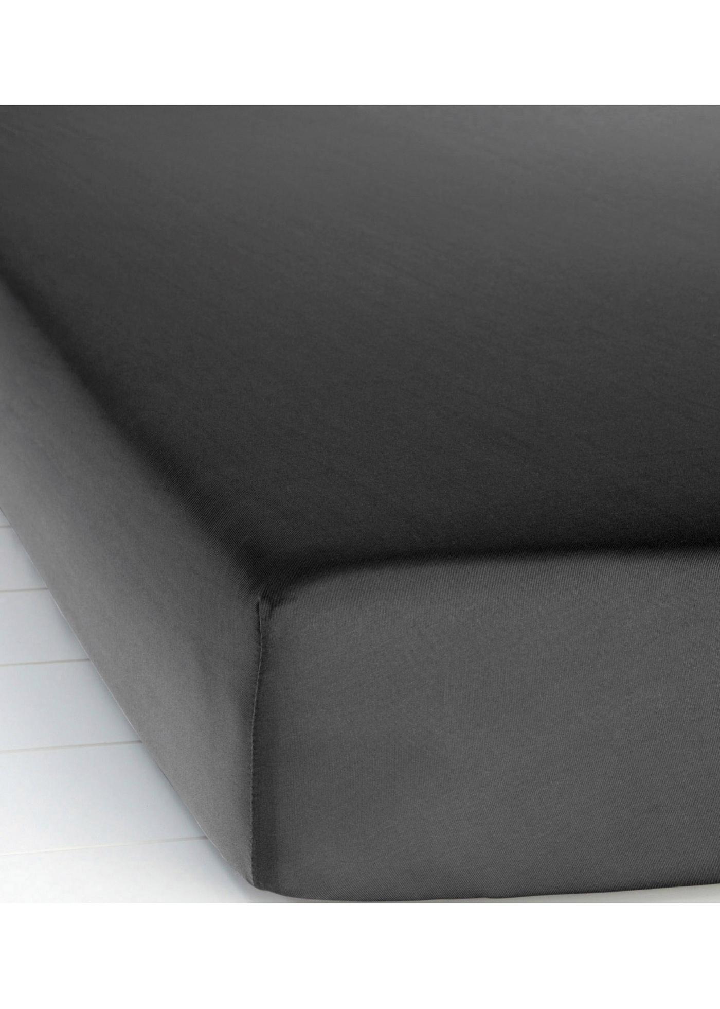 Lenzuolo con angoli in jersey di microfibra (Nero) - bpc living bonprix collection