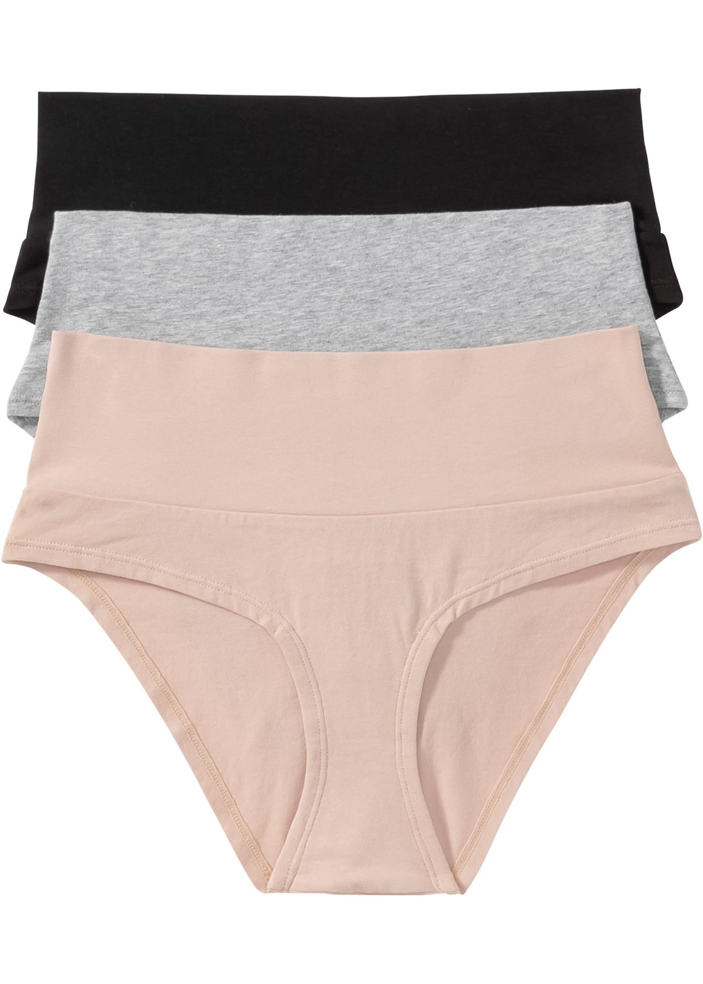 Panty (pacco da 3) in cotone biologico (Nero) - bpc bonprix collection - Nice Size
