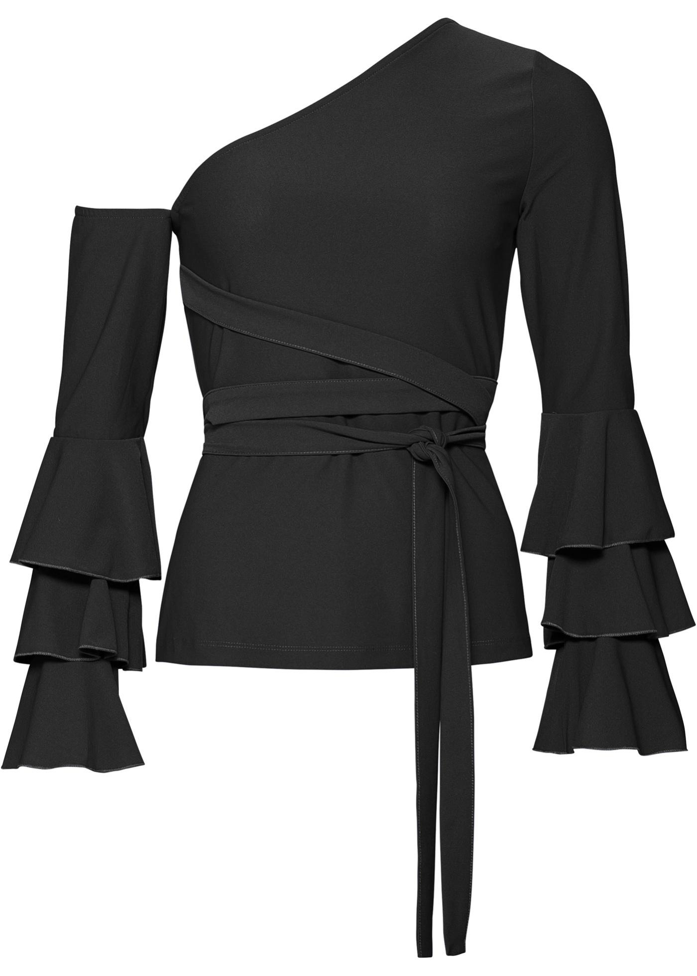 Blusa in maglina (Nero) - BODYFLIRT boutique