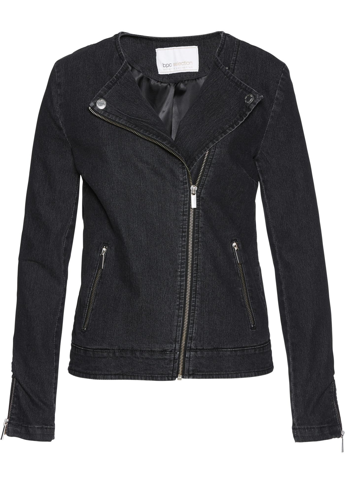 Giacca di jeans stile biker (Grigio) - bpc selection