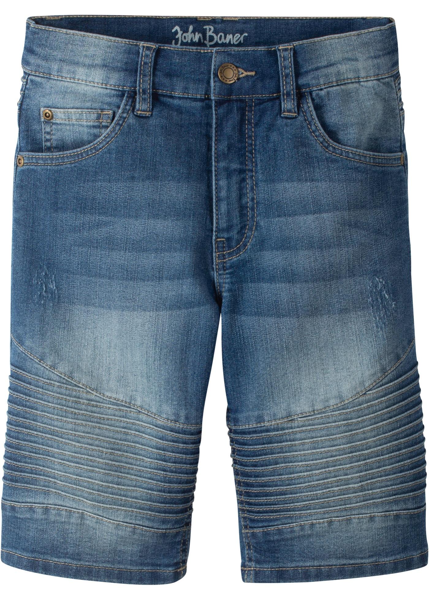 Bermuda di jeans slim fit (Blu) - John Baner JEANSWEAR