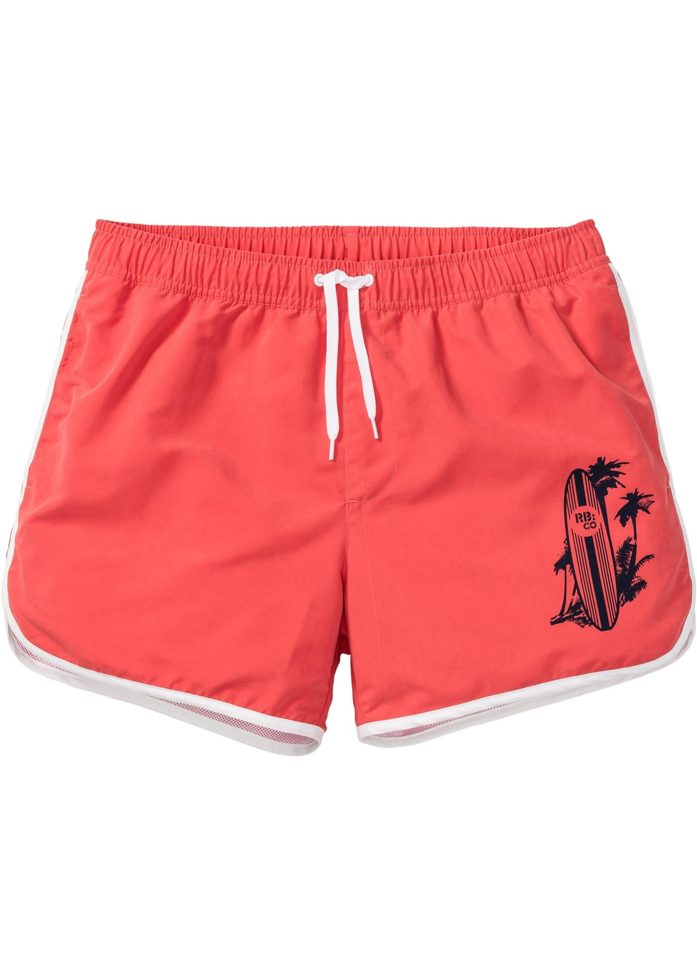 Pantaloncino da spiaggia regular fit (Rosso) - RAINBOW