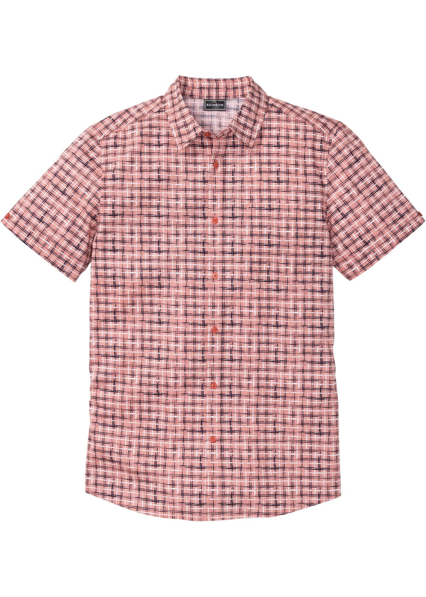 Camicia a manica corta slim fit (rosa) - RAINBOW