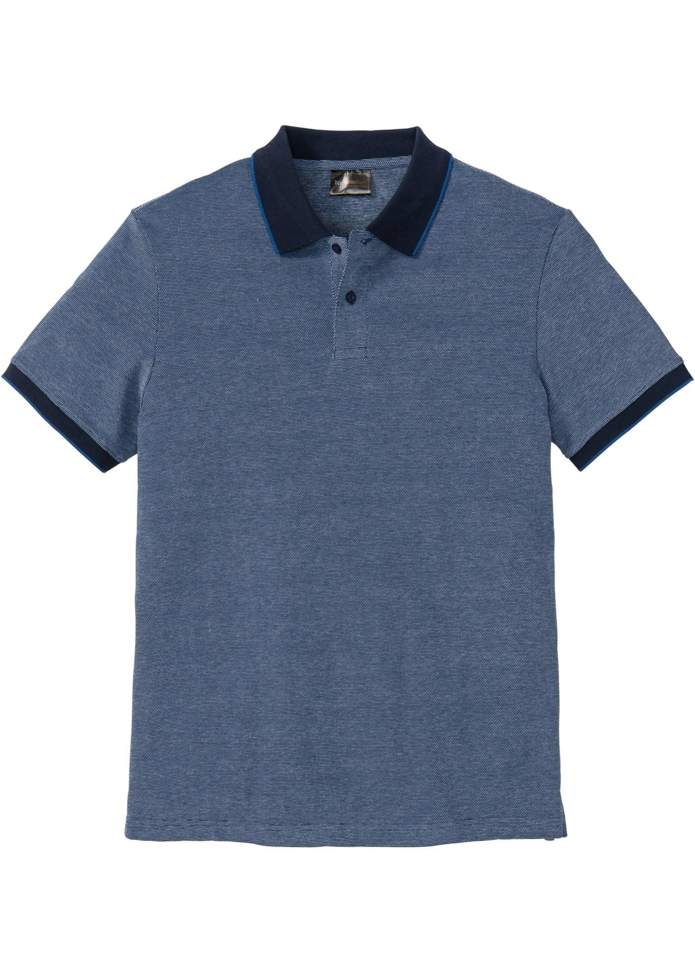 Polo con colletto a contrasto (Blu) - bpc selection