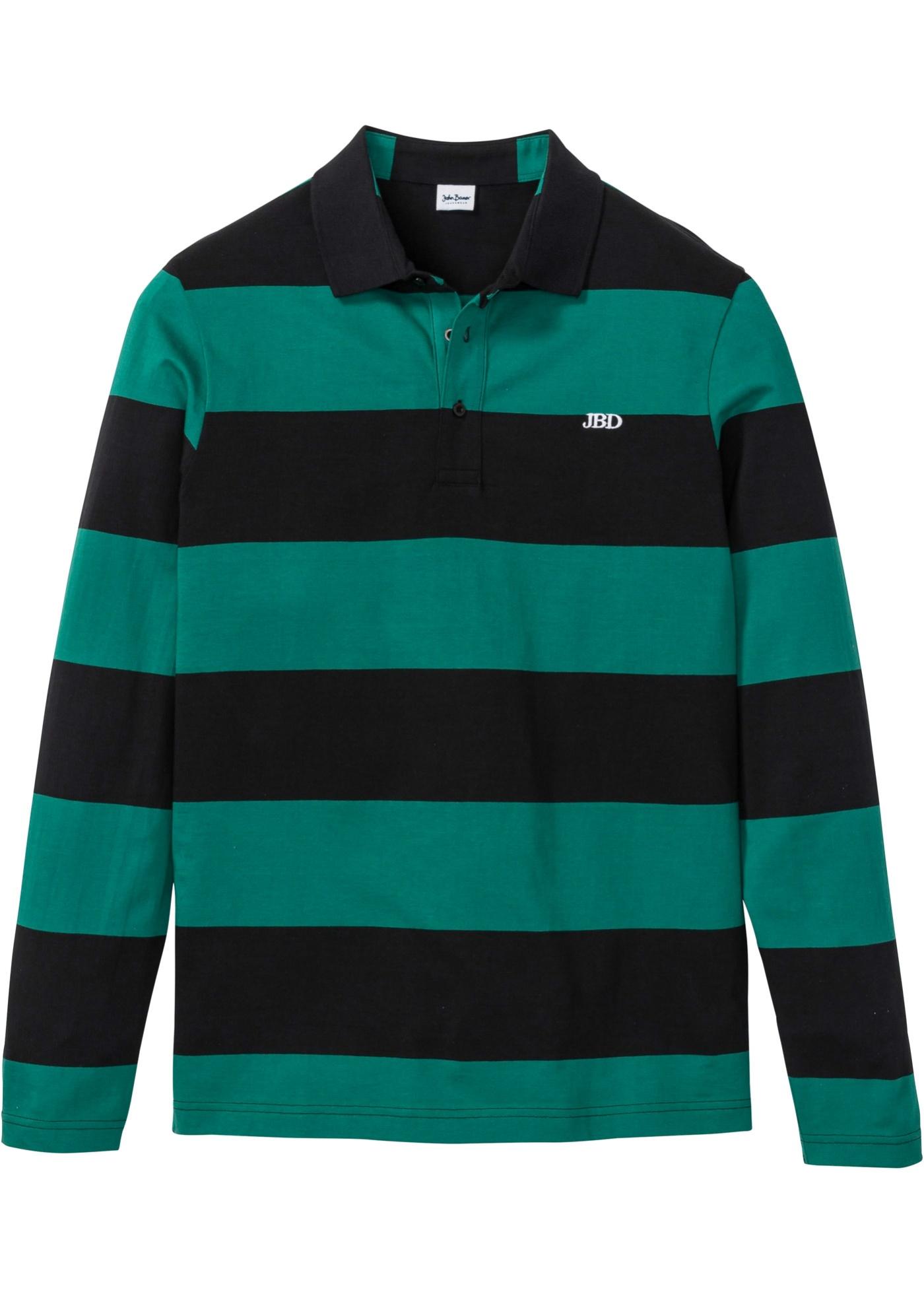 Polo a maniche lunghe (Verde) - John Baner JEANSWEAR
